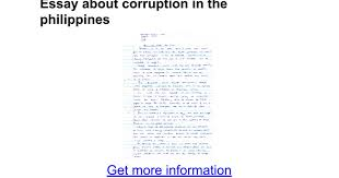 essay about corruption in the google docs