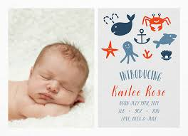 Nautical Birth Announcement By Postable Postable