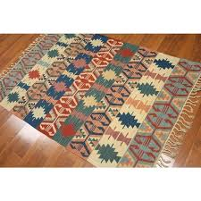 traditional reversible southwestern tribal flat weave area rug rugs woven