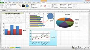 How To Add Arrows In Excel Chart How To Add Shapes And Arrows To Charts Lynda Com Tutorial