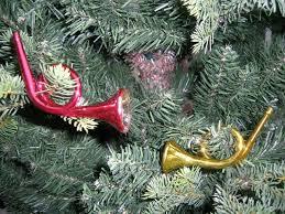 Christbaumschmuck Antik Lauscha Trompete Rotgold Thüringen