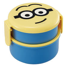 3 minion lunch lunch box skaters lunch box with the round shape shin pull lunch box two steps type tight lock type mini fork with round shape lunch box two