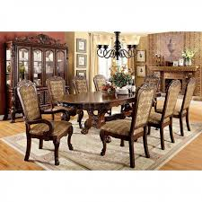 Furniture of America Medieve Oval Diningroom Set in Cherry | Local Outlet