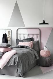 pink and grey bedroom. view in gallery pink and gray bedroom with triangular color blocking grey