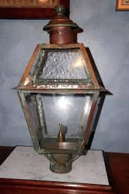 gas lantern post large vintage copper gas lantern post mounted outdoor natural gas lamp post gas gas lantern post