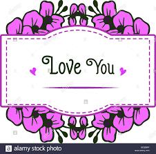 cute flower frame. Vector Stock Vector ...