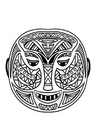 Masque Africain 5 Coloriage De Masques Coloriages Pour Enfants