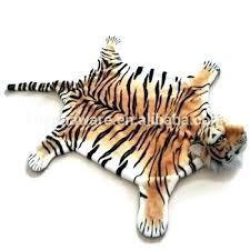 plush stuffed animal rugs rug bear black woodland realistic tiger carpet mat