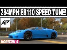 Romano artioli had been a great collector of bugatti vehicles for decades. Forza Horizon 4 Bugatti Eb110 Top Speed Tune 284 Mph Youtube