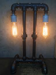 steampunk lamp edison lamp lighting pipe lighting pipe lamp steampunk lighting bankers lamp desk lamp light