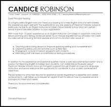 cover letter in english english instructor cover letter sample livecareer