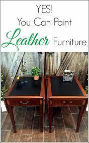 paint leather furniture vintage