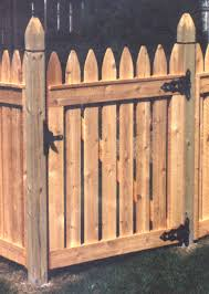 wood picket fence gate. How To Build A Picket Fence Gate Good Neighbor With Beveled Finial Posts Wood E