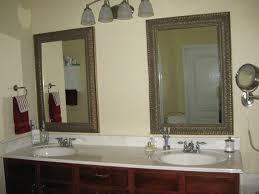 bathroom mirror frame tile. Rubbed Oil Faucet Diy Bathroom Mirror Frame Ideas Luxury Triangle Corner Trough Bathtub Design Bronze Towel Hanger Beige Tile