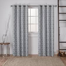 cartago dove grey insulated woven blackout grommet top window curtain