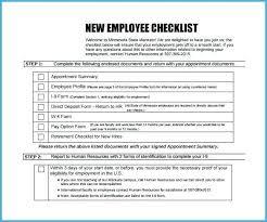 New Employee Orientation Checklist Template Aapkirasoi Co