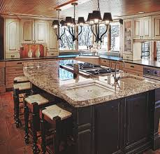 ... Kitchen Sinks, Astounding Brown Rectangle Modern Wooden Kitchen Island  Sinks Varnished Design: wonderful kitchen ...
