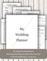 Wedding Coordinator Checklist Neat Simple Wedding Planner Printable Wedding Planner Pdf Detailed Wedding Checklist Wedding Coordinator Checklist Wedding Day Planner