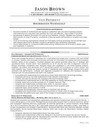 Information Technology Cv Examples Information Technology Resume