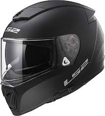 Ls2 Helmets Unisex Adult Full Face Helmet Matte Black Large Breaker