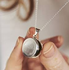 small loved locket necklace by posh