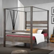 Marion Charcoal Grey Queen Canopy Bed - Free Shipping Today - Overstock.com  - 80005004