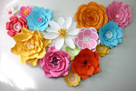 Paper Flower Printables 9 Paper Flower Templates Free Sample Example Format Download