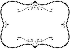 decorative black and white flourish frame