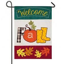 welcome fall garden flag fall garden