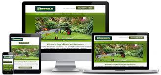 Garden Mowing Maintenance Website Business SEO Cairns Web Beauteous Garden Web Design Design