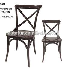 french bistro chairs metal. x back /cross dining chair french bistro style chairs metal