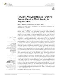 Pdf Network Analysis Reveals Putative Genes Affecting Meat