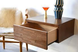 modern furniture decor. Wall Mounted Drawer Floating Mid Century Modern Nightstand - Mayan Mocha Furniture Decor S