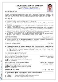 Technical Skills Cv New Arunendras Cv 2016 For Industry