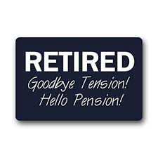 Amazon NonSlip Rectangle Funny Retirement Quotes Sayings Beauteous Funny Retirement Quotes