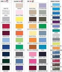 Hanes Comfortblend Color Chart Related Keywords