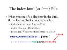 The index.html (or .htm) File