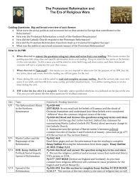 Reformation Unit Calendar
