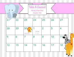 Free Printable Birthday Calendar Templates Luxury Baby Due Date