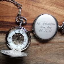 pocket watches engraved groomsmen gifts personalized gifts for mens brushed chrome mechanical pocket watch personalized groomsmen gift for him gifts for men birthday engraved father s day