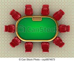 table and chairs top view. poker table with chairs top view - csp5874673 and