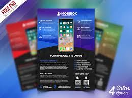 Design Flyer App Mobile App Promotion Flyer Psd Bundle Psdfreebies Com