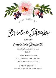 Free Bridal Shower Invite Templates Print Free Wedding Shower Invitation Template