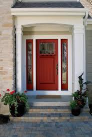 craftsman front doorCraftsman Front Door with exterior herringbone tile floors by
