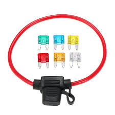 best car automotive in line mini blade fuse holder 12v 30a with 6 Mini Fuse Tap at 30a Mini Blade Fuse Box