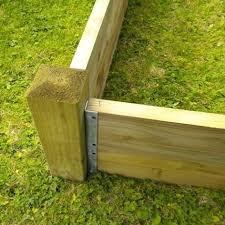 raised garden bed corner brackets photo