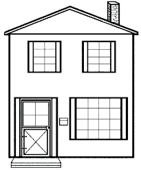 White House Coloring Pages Coloring Pictures Of A House House Color