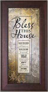 Bless our home and all who enter decorative wall sign art, rustic farmhouse wall home decor for living room, bedroom or bathroom, 6 x 17 inch, white 4.4 out of 5 stars 104 $17.90 $ 17. Amazon Com James Lawrence Bless This House Framed Wall Art Prints Posters Prints