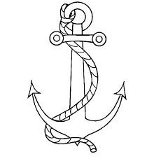 nautical coloring pages nautical anchor with a rope coloring pages bulk color
