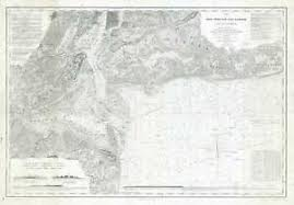 Details About 1920s U S Coast Survey Nautical Chart Or Maritime Map Of New York Bay